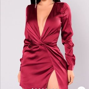 Red wine dress from Fashion nova